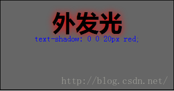 CSS3 text-shadow 属性